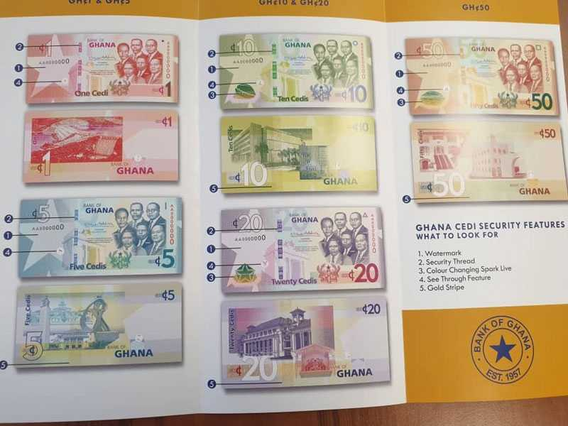 Bank of Ghana to introduce upgraded Ghana cedi notes