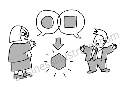 Innovation happens at intersections cartoon