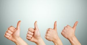 Marketing Review Thumbs Up