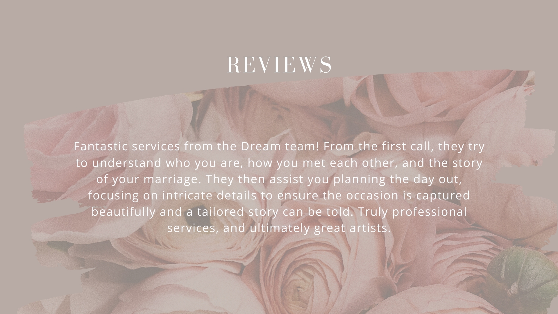 Wedding photographer website reviews