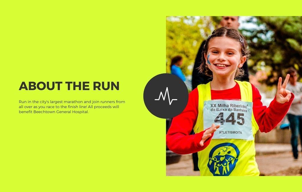 Running Event Website 2