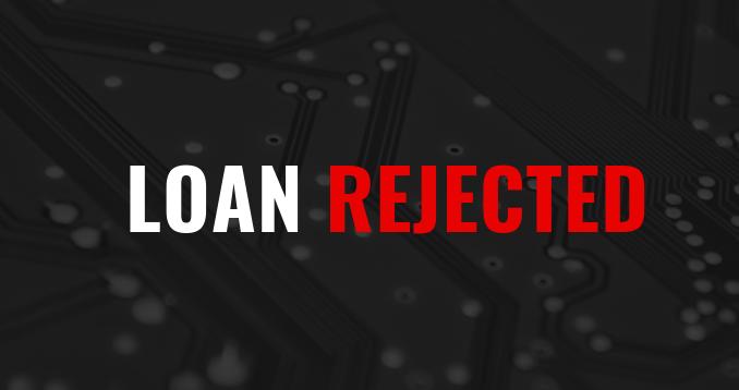 personal loan rejection