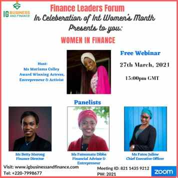 women in business, women finance leaders