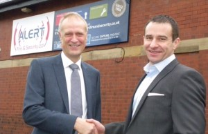 Chamber President David Sharpe (left) with Trevor Shanley, of Alert Fire and Security Ltd.