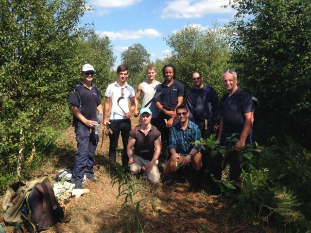Corporate supporters Siemens out doing some peat bog restoration work last summer