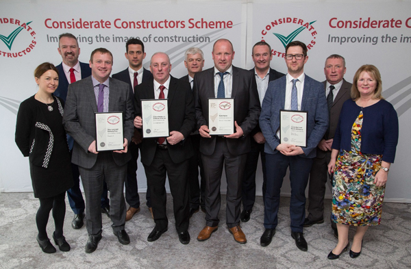 Conlon Construction team at National Site Awards 2017
