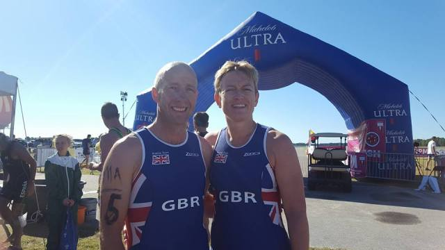 Deborah Terras & husband Tony Terras representing Great Britain at the Biathle World championships in Sarasota Florida on Sunday 23rd October 2016