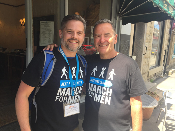 "Happy Simon completes his ""inspirational"" March For Men trek"
