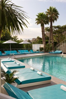 Outdoor pool of hotel Sofitel Marseille Vieux port