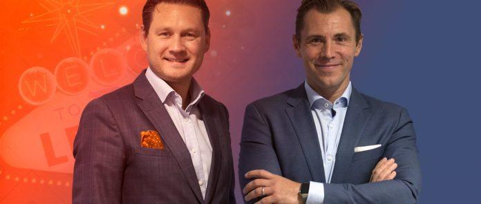 LeoVegas founders Gustaf Hagman and Robin Ramm-Ericson.