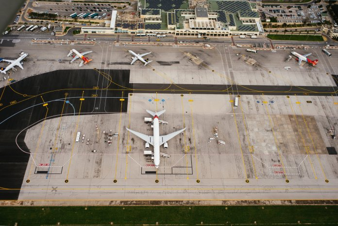 Bird's-eye view of the Malta International Airport. (source: MLA media)