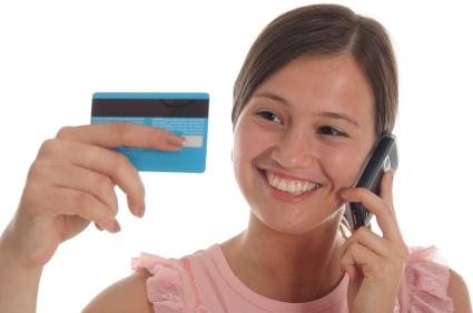 المال من البطاقة على الهاتف