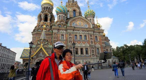 Москва, туристы.