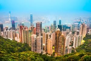 Panoramic view of Hong Kong from Victoria Peak. China. Credit: MasterLu