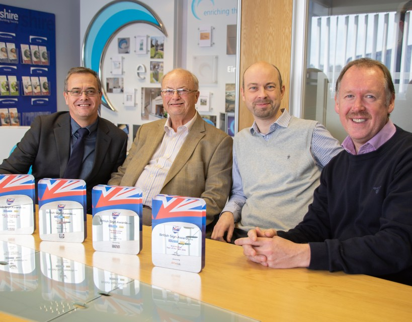 Gateshead sign manufacturer Astley wins big at national industry awards
