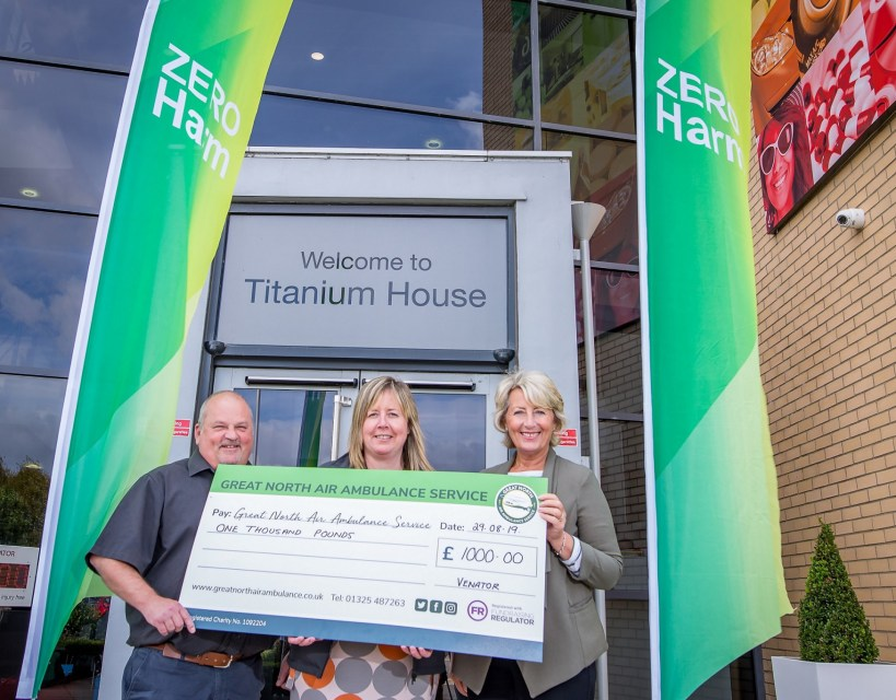 Charity boost as chemical company marks 1,000 days injury free