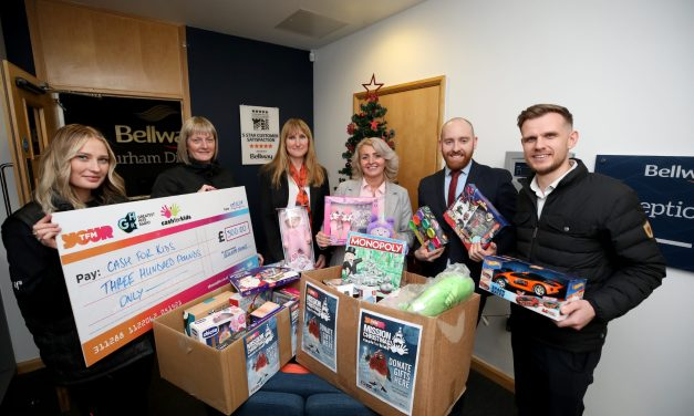 Durham housebuilder joins forces with charity to provide Christmas gifts for children