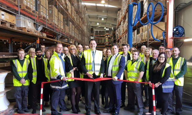 Growing Billingham bathroom firm unveils its newly refurbished warehouse