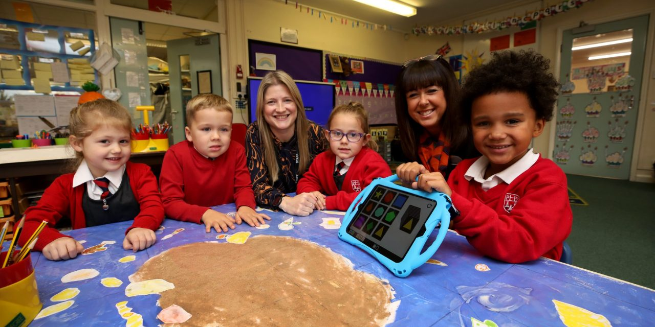 Interactive learning boost for school pupils thanks to donation from housebuilder