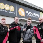 The Voice singer on song as he opens £150,000 flooring store on Teesside