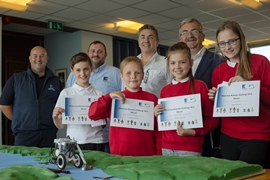 Pupils take on the Waterway Robotics Challenge