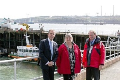 Skills Minister Meets Talents Set to Energise Port of Milford Haven's Future