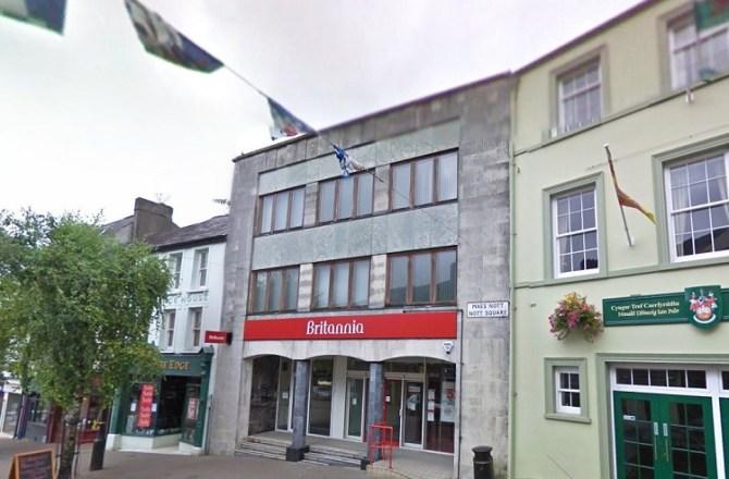 Carmarthen's Former Britannia Building Society to Go Under the Hammer
