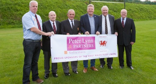 Peter Lynn & Partners Sponsors West Wales Rugby Union in 3 Year Deal