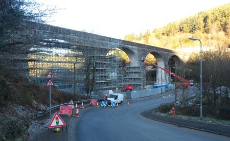 Restoration of Pontrhydyfen's Iconic Aqueduct Underway