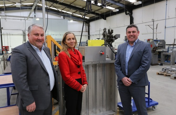 International Trade Minister Visits Torfaen Flamgard Calidair HQ
