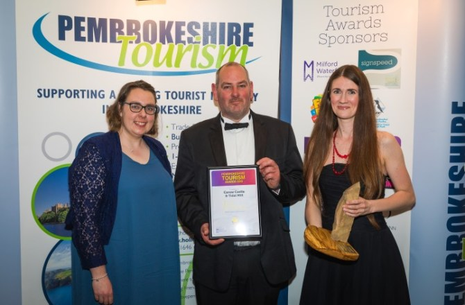 Carew Castle and Tidal Mill are Best Visitor Attractions at Pembrokeshire Tourism Awards