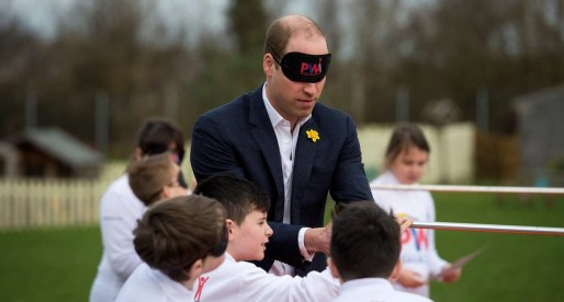 Prince William Launches Awards Programme at Primary School