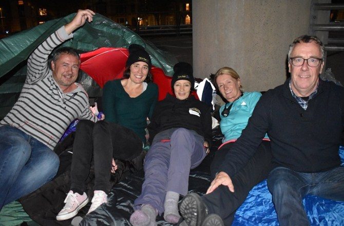 150 Professionals Sleep Rough in Cardiff to Prevent Youth Homelessness