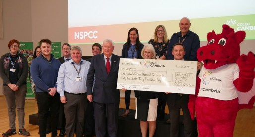 Coleg Cambria Donates Over £115,000 to NSPCC