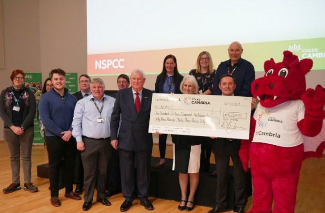 Coleg Cambria Donates Over £115,000 to NSPCC