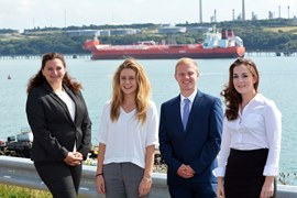 Scholarship Students Complete Summer Placement at the Port of Milford Haven