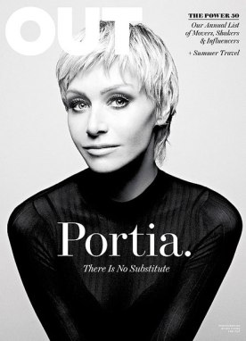 Portia De Rossi on Out Mag