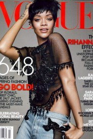 Riri on the Elle cover