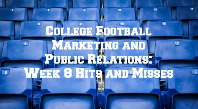 College football marketing Week 8