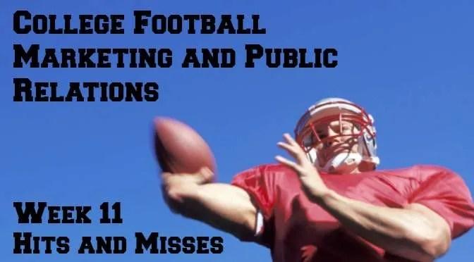College football marketing - Week 11