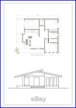 Shell Home Package 3br 1.5ba 1050sf Manuae Modern Modular