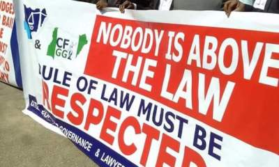 PHOTOS: Lawyers Protest Against DSS In Abuja