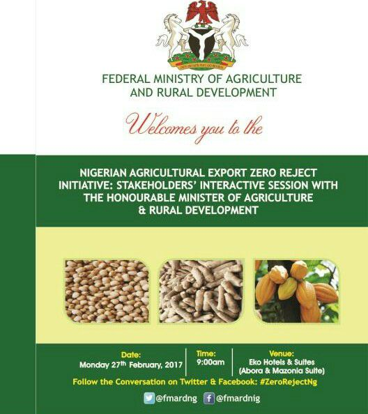 FG Meets Agric Export Stakeholders Tomorrow