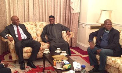 PHOTOS: Buhari Receives Saraki, Dogara in London