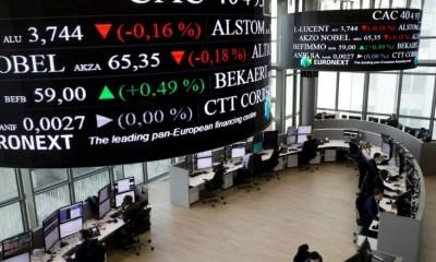French, German Stocks Fall as UK Equities Close Flat