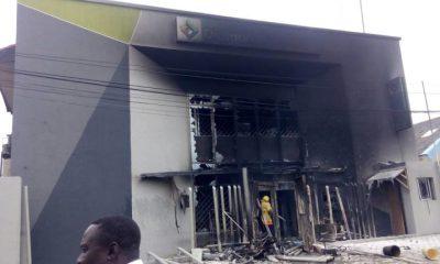 Angry Truck Drivers Burn Diamond Bank, Sterling Bank