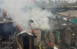 Fire Apongbon Market