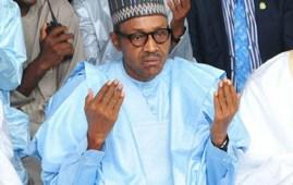 nigeria buhari praying