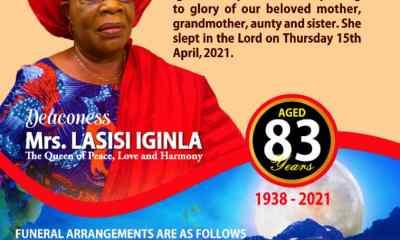 Prophet Iginla mother's burial