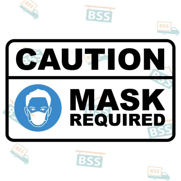 Caution Mask Required Sign for COVID 19 Coronavirus Pandemic